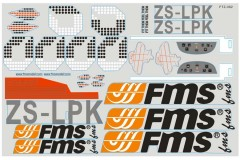 FMS 1400mm Pitts FJ309 Stickers
