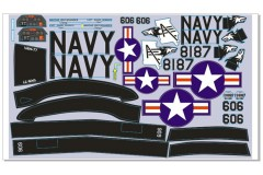 FMS 800mm T-28 PA112-GRY Decal sheet
