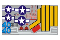 FMS 1700mm P47 SH304-Silver Stickers