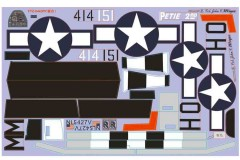 FMS 1400mm P-51D SU131-Petie 2nd Decal Sheet