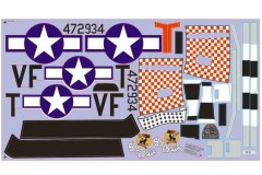 FMS 1400mm P-51D SU131-Shangri-la Decal Sheet