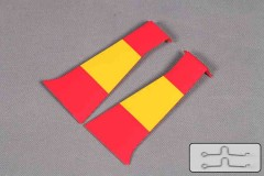 FMS 1400mm P-51D SU135-Red tail Outer Fairing Door