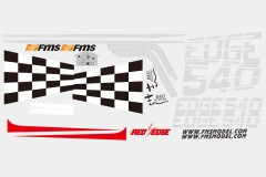 FMS Edge 540 SW120 Decal sheet-RED