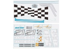 FMS Edge 540 SW120 Decal sheet