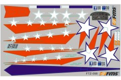 FMS Extra300 SZ120 Decal Sheet