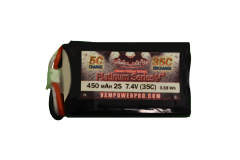 Vampowerpro Platinum Series 450mAh 2S (7.4v) 35C Lipo Battery w/ EFlite connector