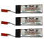 Vampowerpro Platinum (3) 520mAh 1S (3.7v) 18C Lipo Battery x3 w/ JST Connector